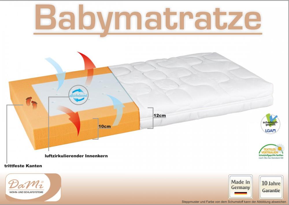 Kaltschaummatratze baby  Baby Kaltschaum Matratze Kinderkaltschaummatratze Babybett Matratze ...